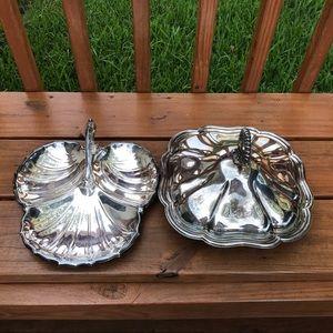 2 Silver Dish Set
